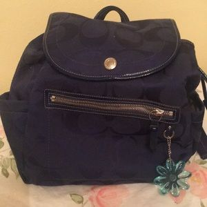 Coach blue cloth small back pack